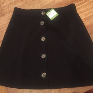 NWT Kate spade jewel button skirt size 8